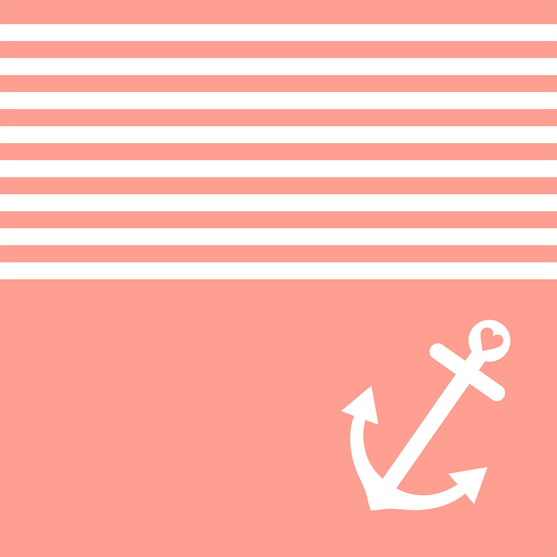 DiaNoche Designs Artist | Organic Saturation - Coral Love Anchor Nautical