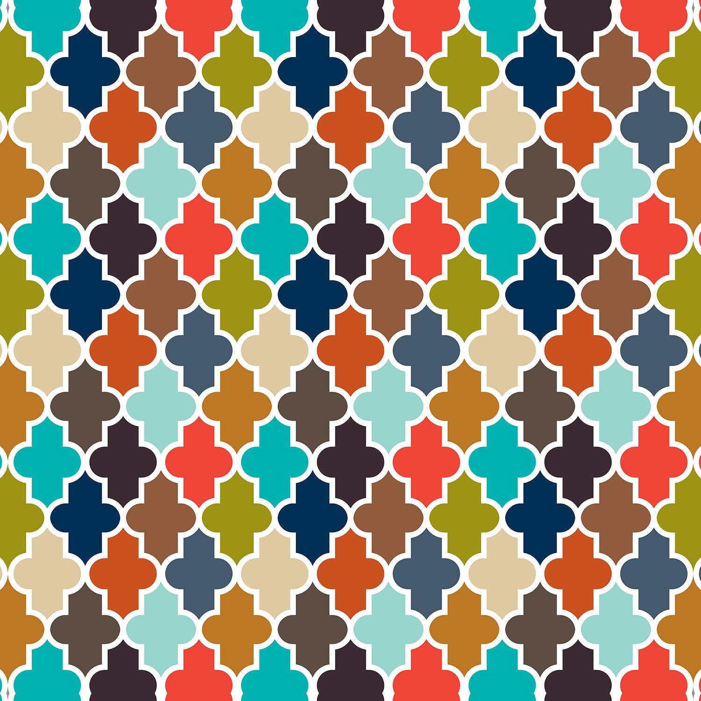 DiaNoche Designs Artist | Organic Saturation - Earthy Quatrefoil