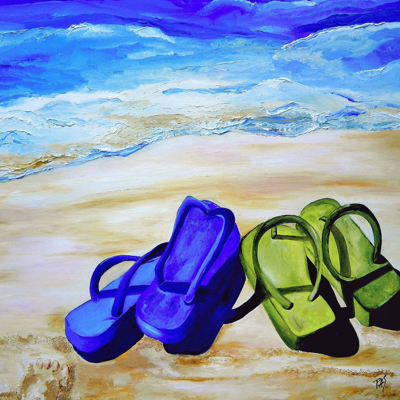 DiaNoche Designs Artist | Patti Schermerhorn - Naked Feet on the Beach