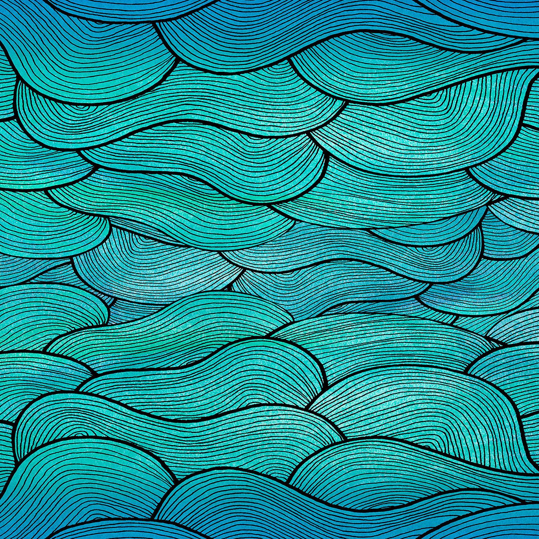 DiaNoche Designs Artist | Pom Graphic Design - Sea Waves Pattern