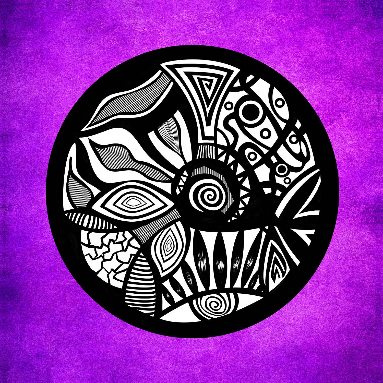 DiaNoche Designs Artist | Pom Graphic Design - Abstract Circle Purple