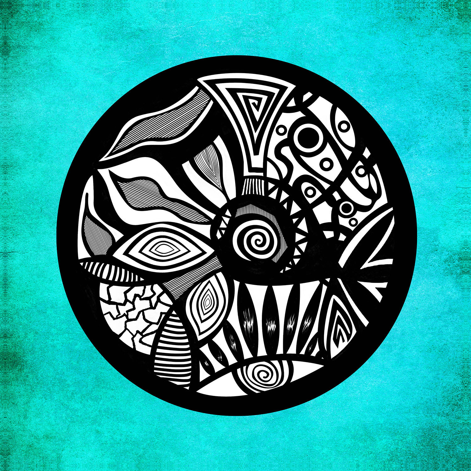 DiaNoche Designs Artist | Pom Graphic Design - Abstract Circle Turquoise