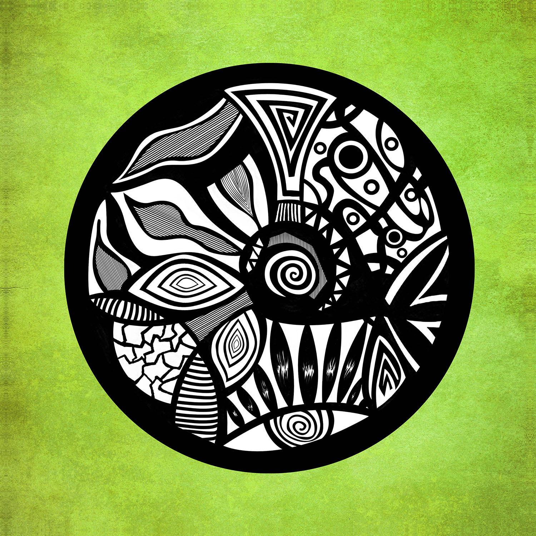 DiaNoche Designs Artist | Pom Graphic Design - Abstract Circle Verde