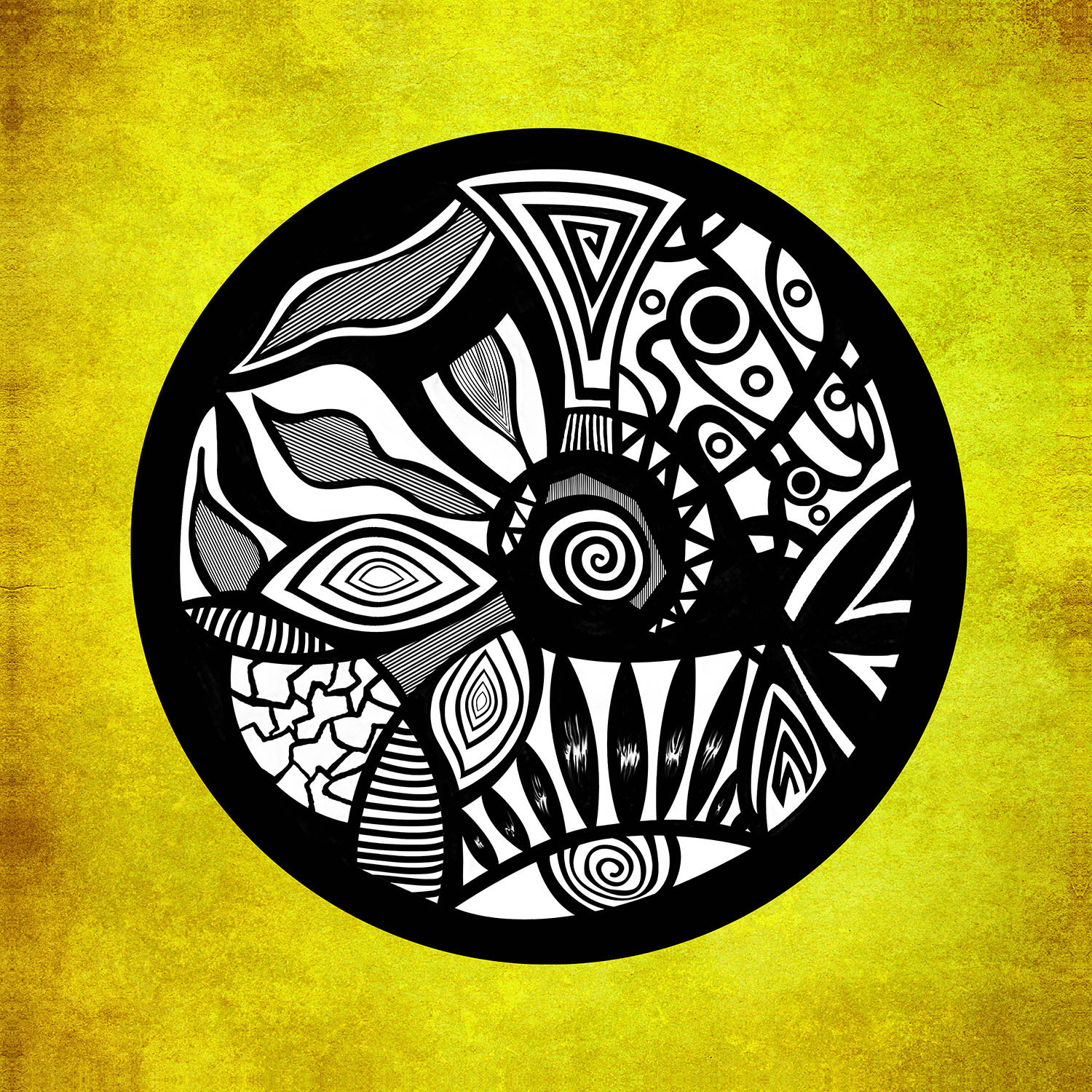 DiaNoche Designs Artist | Pom Graphic Design - Abstract Circle Yellow