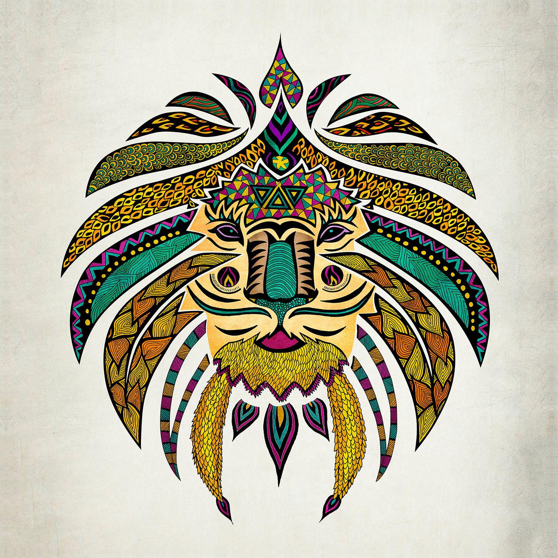 DiaNoche Designs Artist | Pom Graphic Design - Emperor Tribal Lion I