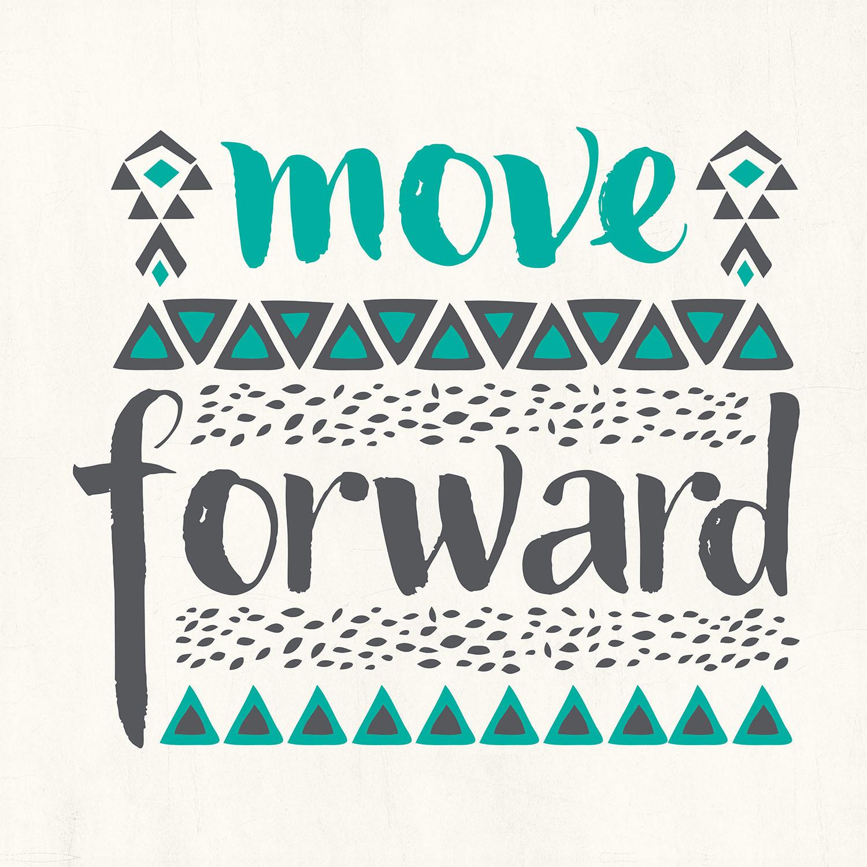 DiaNoche Designs Artist | Pom Graphic Design - Move Forward