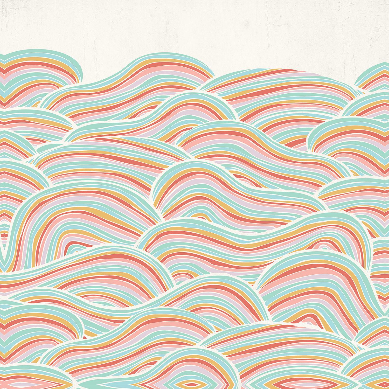 DiaNoche Designs Artist | Pom Graphic Design - Summer Seawaves