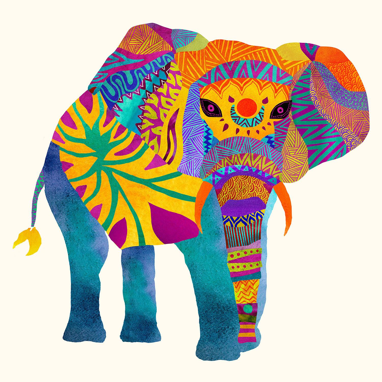 DiaNoche Designs Artist | Pom Graphic Design - Whimsical Elephant I
