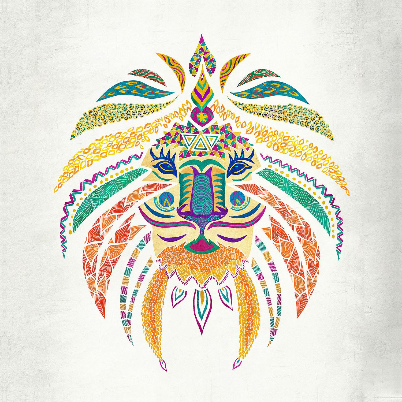 DiaNoche Designs Artist | Pom Graphic Design - Whimsical Lion
