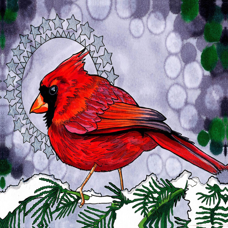 DiaNoche Designs Artist | Rachel Brown - Cosmo Cardinal