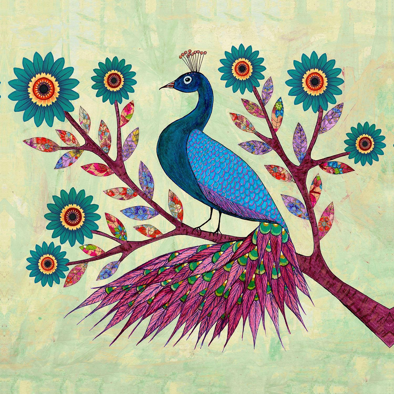 DiaNoche Designs Artist | Sascalia - Blue Peacock