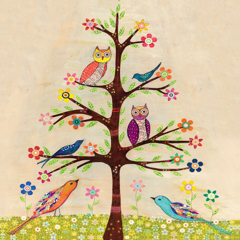 DiaNoche Designs Artist | Sascalia - Owl Bird Tree II
