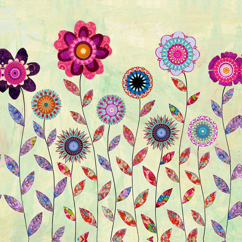 DiaNoche Designs Artist | Sascalia - Purple Flowers