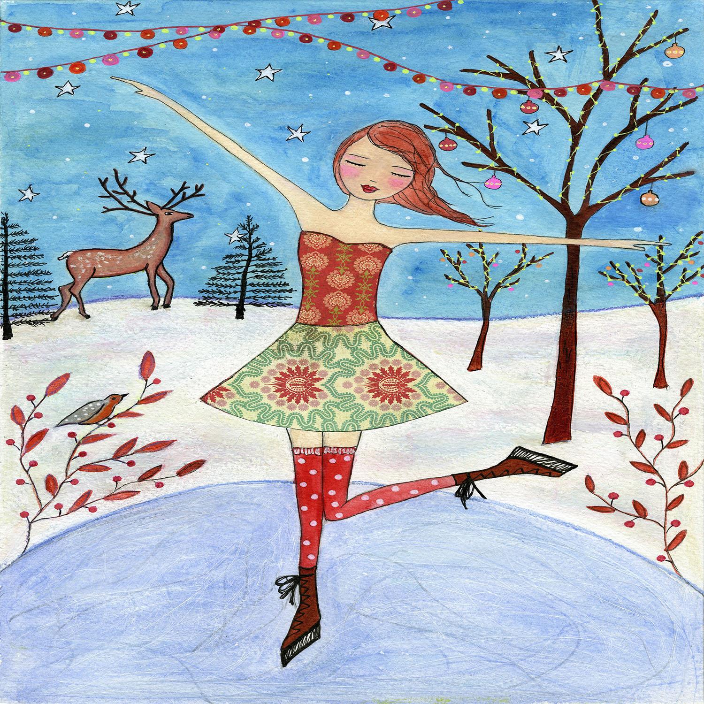 DiaNoche Designs Artist | Sascalia - Winter Skater