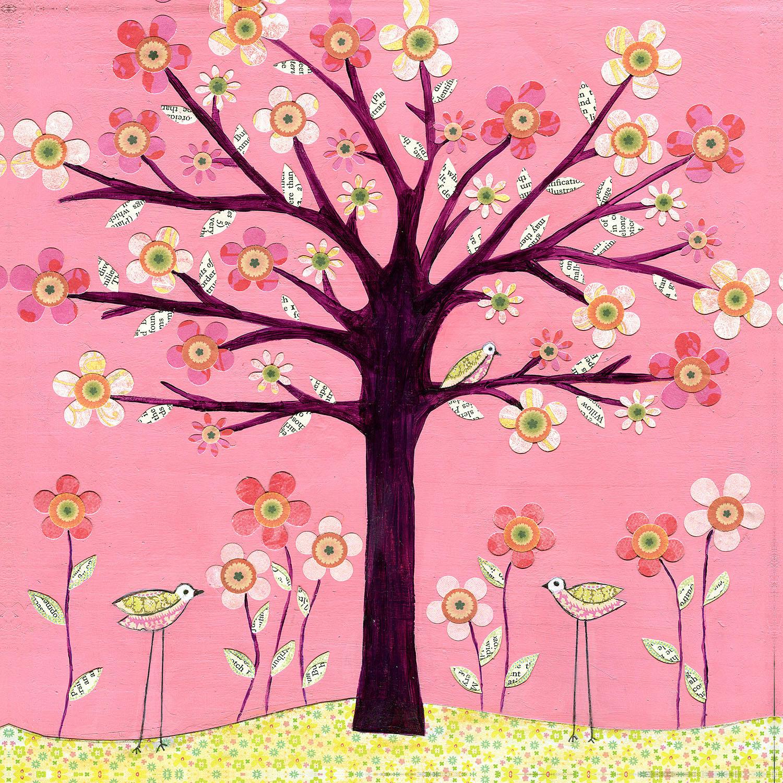 DiaNoche Designs Artist | Sascalia - Pink Bird Tree