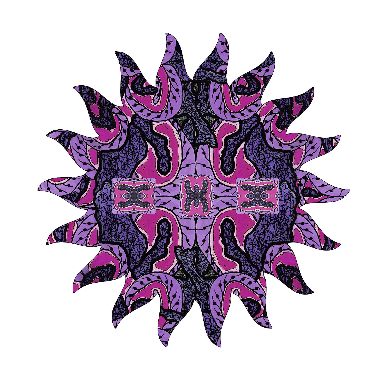 DiaNoche Designs Artist | Susie Kunzelman - Purple Maze Sun