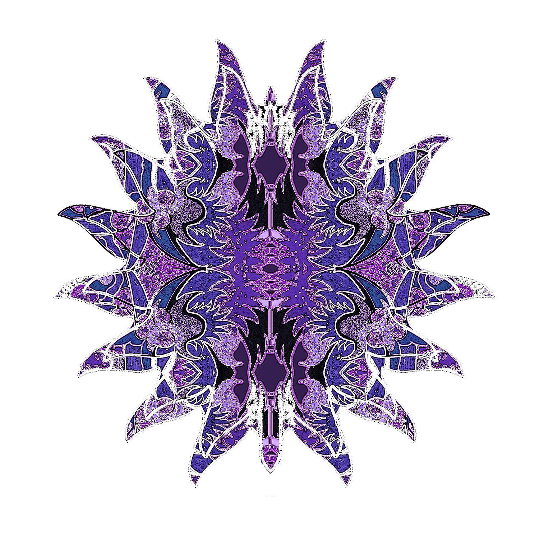 DiaNoche Designs Artist | Susie Kunzelman - Purpleliscious Sun