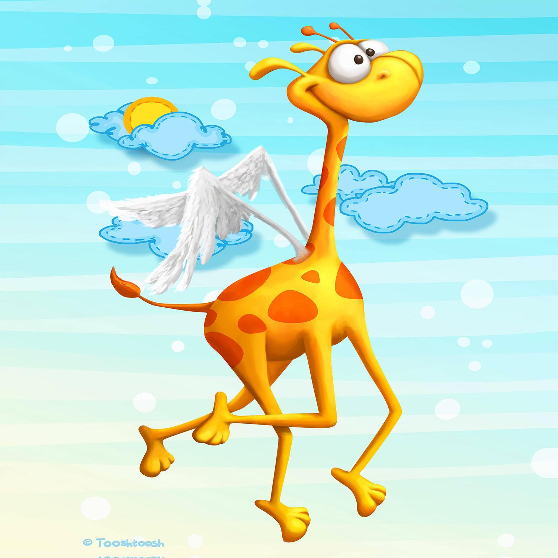 DiaNoche Designs Artist | Tooshtoosh - Fly Giraffe Fly