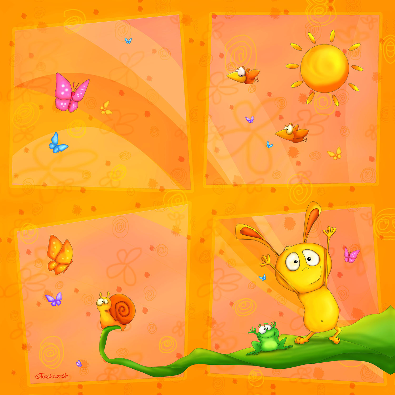DiaNoche Designs Artist | Tooshtoosh - Happy Baby Orange