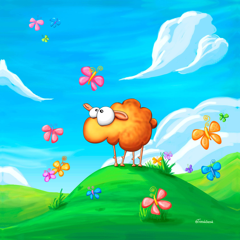 DiaNoche Designs Artist | Tooshtoosh - Wallo the Sheep Blue