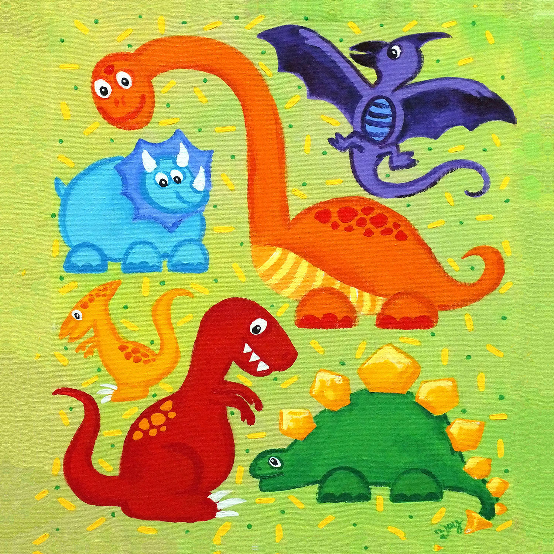 DiaNoche Designs Artist | nJoy Art - Dinosaur Jumble