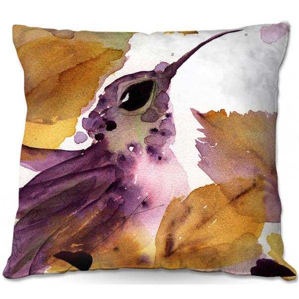 Throw Pillows Artist: Dawn Derman, Colorado Image: Pansy III