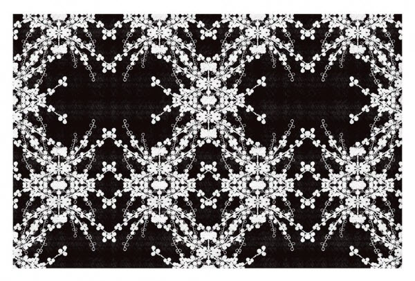 Blackberry Lace II Area Rug by Julie Ansbro