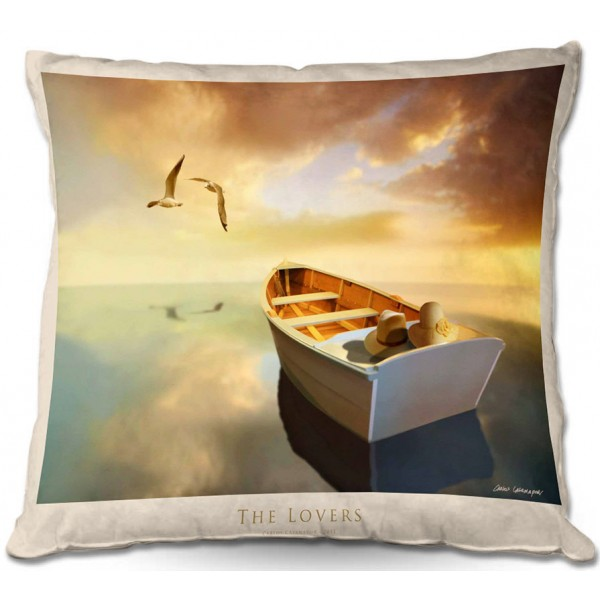 The Lovers Birds And Boats Pillow
