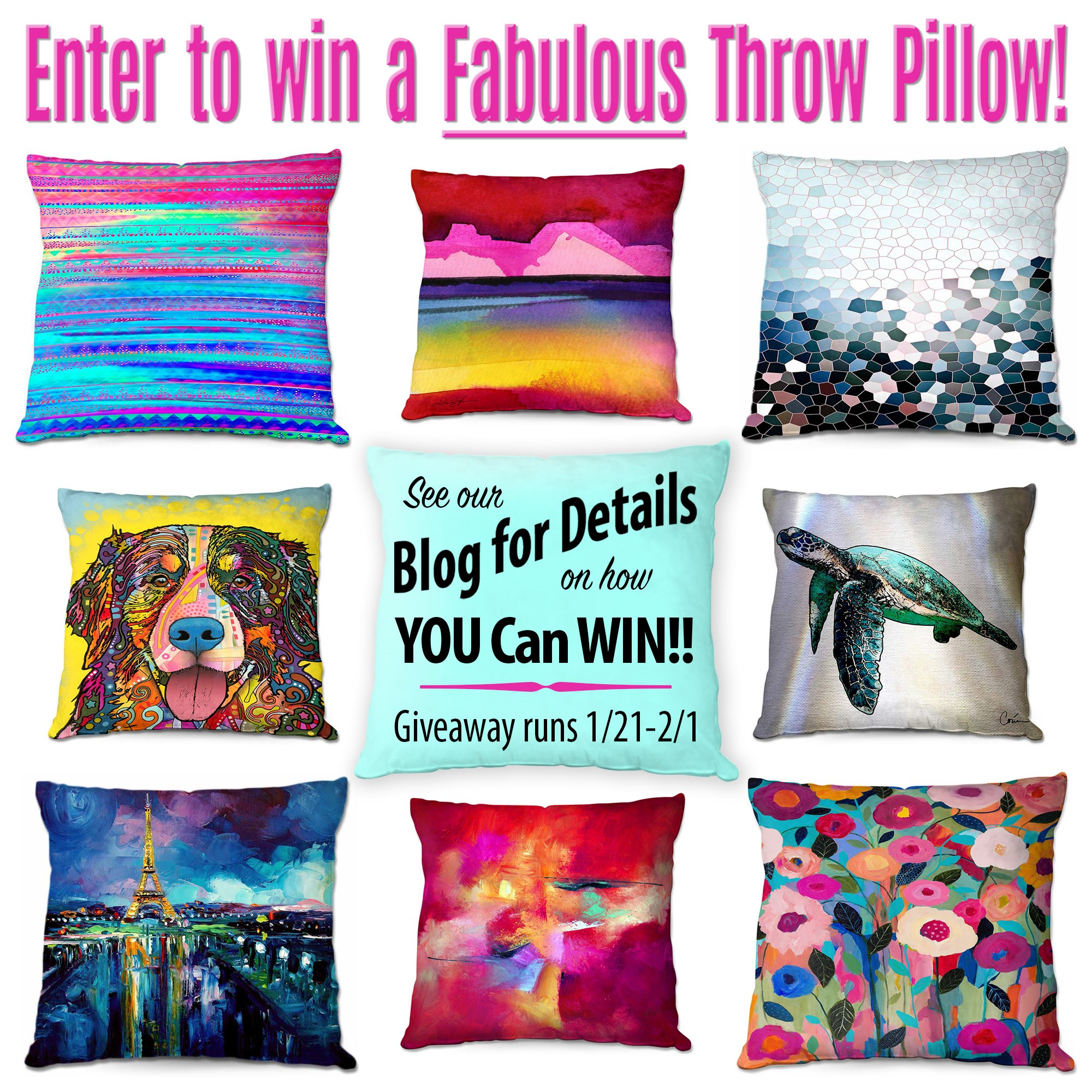 Pillow Give Away