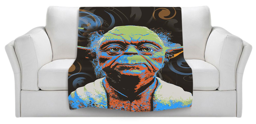 Fathers Day Yoda Start Wars Blanket