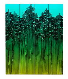 Abstract illuminated wall art
