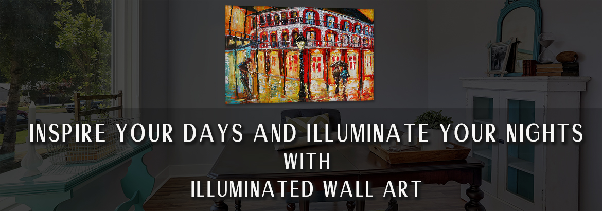 Illuminated Wall Art Dark