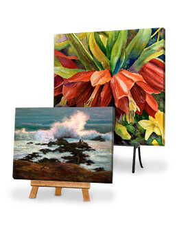 Easels Are a Great Way to Display Your Illuminated Art!
