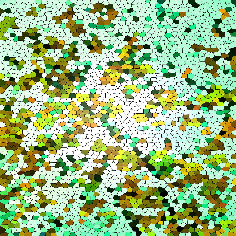 DiaNoche Designs Artist | Iris Lehnhardt - Mosaic Veil Green