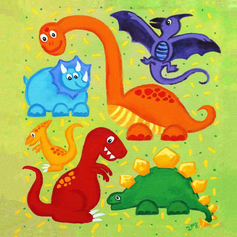 DiaNoche Designs Artist   nJoy Art - Dinosaur Jumble