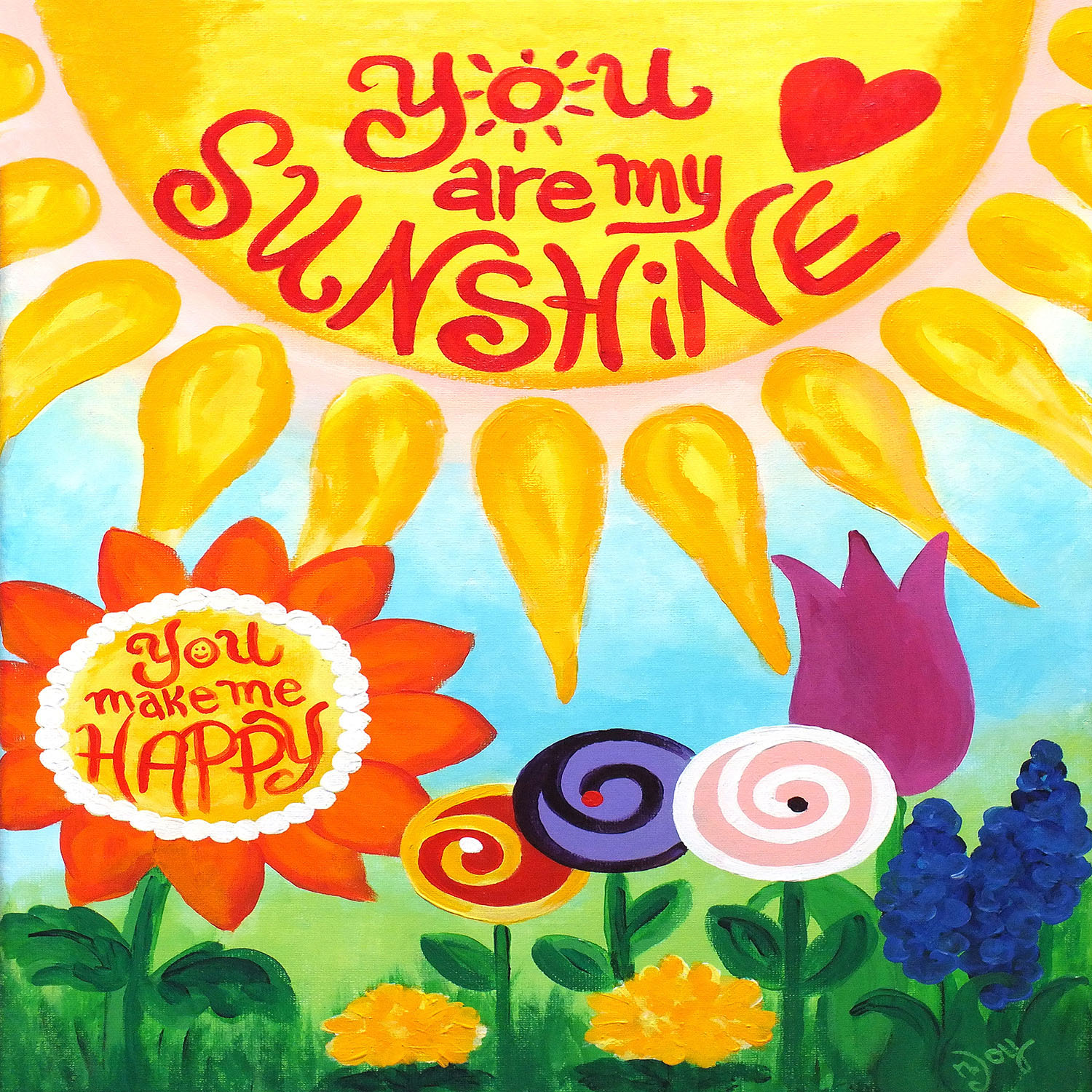 DiaNoche Designs Artist   nJoy Art - You are my Sunshine Floral