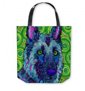 Colorful art totes