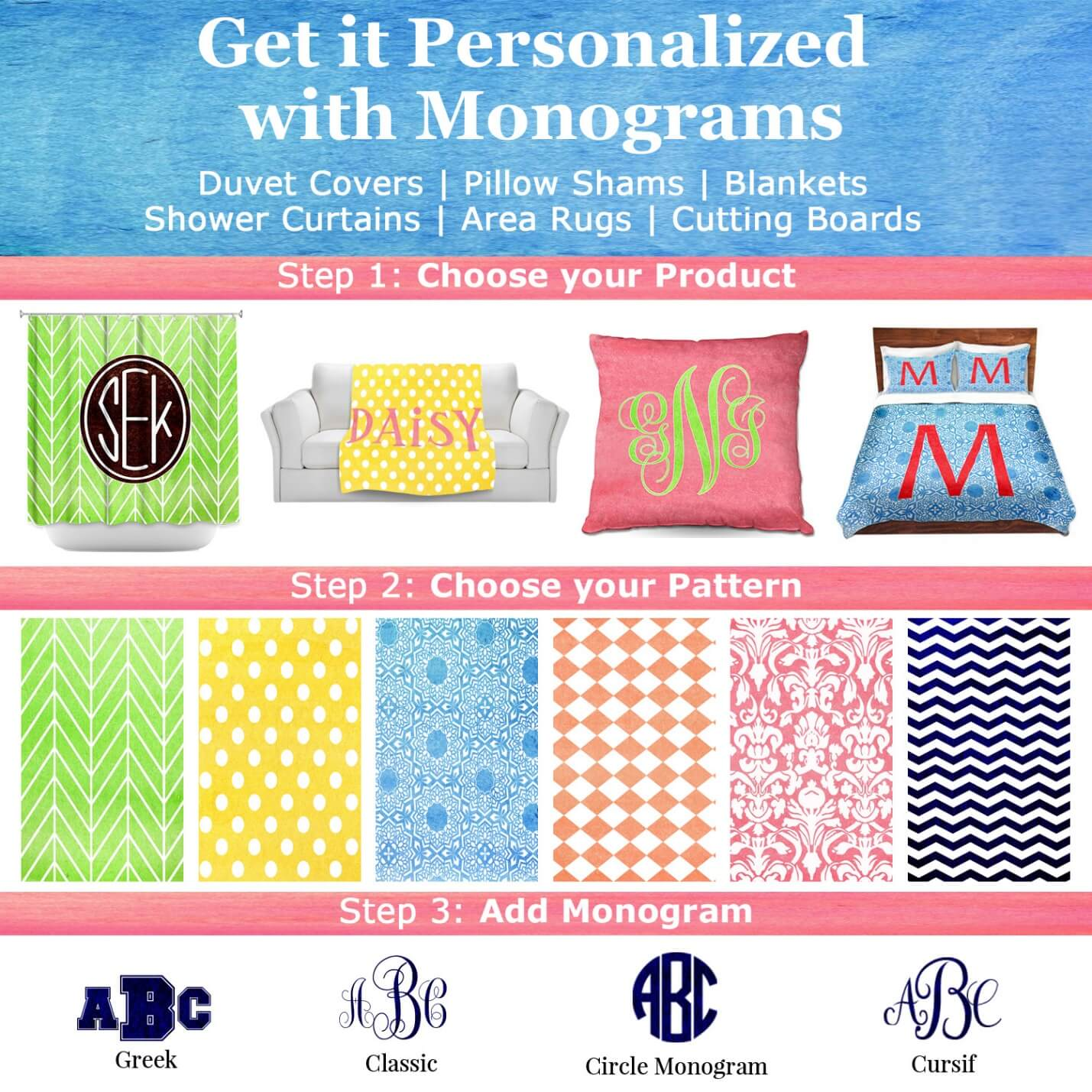monogramed items available