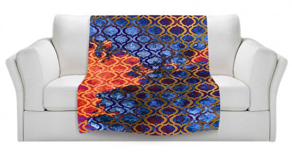 Fleece Blankets Artist: Iris Lehnhardt, Germany Image Sky Pattern