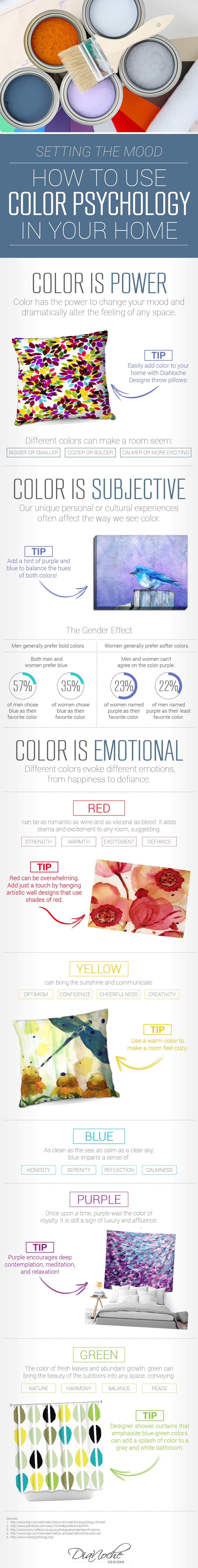 DiaNoche's color psychology creates a perfect mood