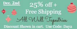25% off Wall tapestrry