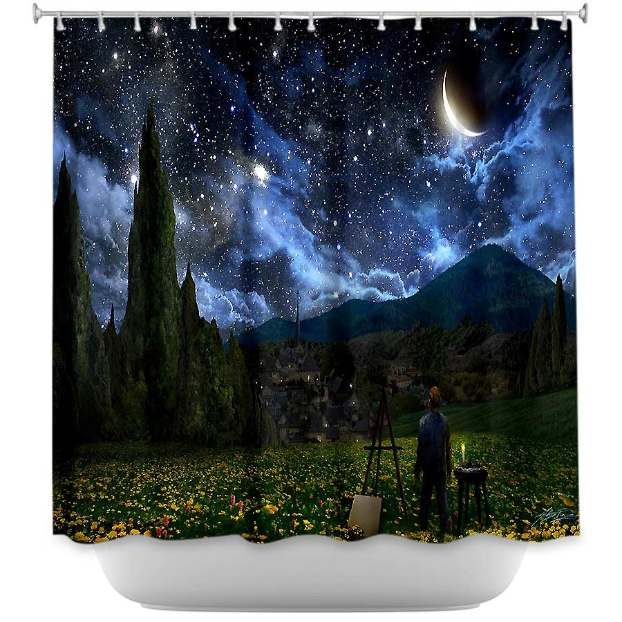 Starry Night Vicent Van Gogh Fathers Day Shower Curtain